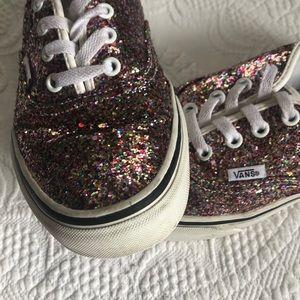 chunky glitter vans